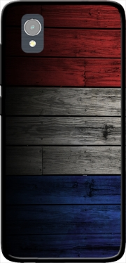 Wooden French Flag Case for Orange Rise 54 / Alcatel 1