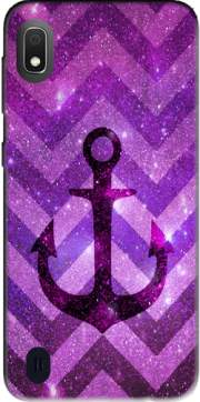 Anchor Chevron Purple Case for Samsung Galaxy A10