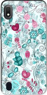 doodle flowers and butterflies Case for Samsung Galaxy A10