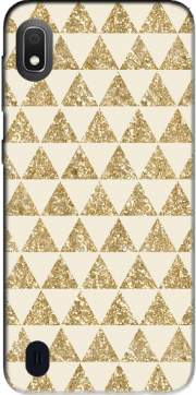 Glitter Triangles in Gold Case for Samsung Galaxy A10