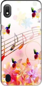 Musical Notes Butterflies Case for Samsung Galaxy A10