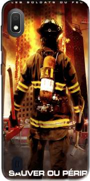 Save or perish Firemen fire soldiers Case for Samsung Galaxy A10