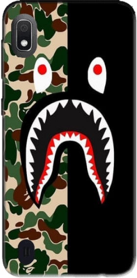 Shark Bape Camo Military Bicolor Case for Samsung Galaxy A10