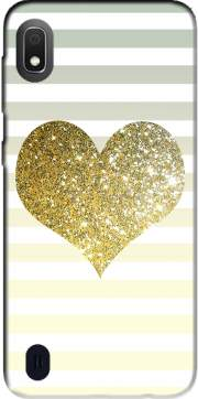 Sunny Gold Glitter Heart Case for Samsung Galaxy A10