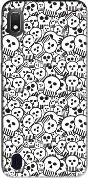 toon skulls, black and white Case for Samsung Galaxy A10
