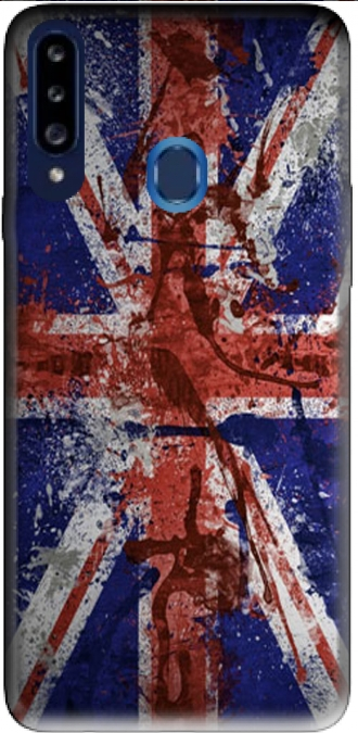 Silicone Samsung Galaxy A20s with pictures flag