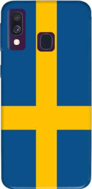 Flag Sweden Case for Samsung Galaxy A40