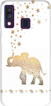 Gatsby Gold Glitter Elephant Case for Samsung Galaxy A40