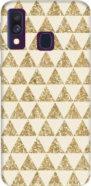 Glitter Triangles in Gold Case for Samsung Galaxy A40