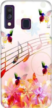 Musical Notes Butterflies Case for Samsung Galaxy A40