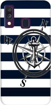 Navy Striped Nautica Case for Samsung Galaxy A40