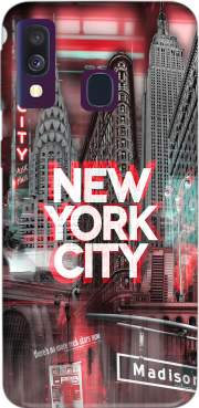 New York City II [red] Case for Samsung Galaxy A40