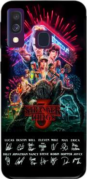 Stranger Things 3 Signature Limited Edition Samsung Galaxy A40 Case