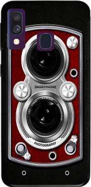 Vintage Camera Red Case for Samsung Galaxy A40