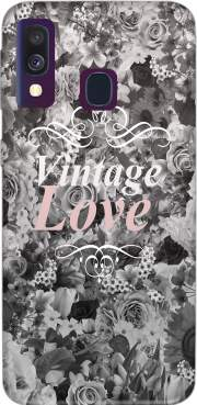 Vintage love in black and white Case for Samsung Galaxy A40