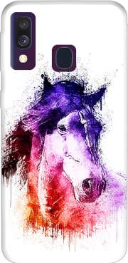 watercolor horse Samsung Galaxy A40 Case