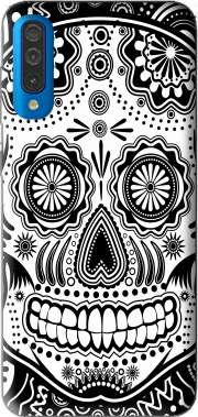 black and white sugar skull Case for Samsung Galaxy A50