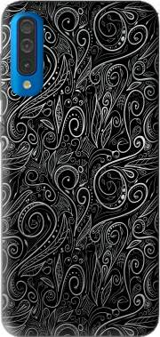Black Silver Damasks Case for Samsung Galaxy A50