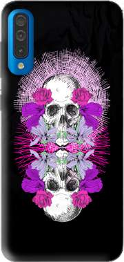 Flowers Skull Case for Samsung Galaxy A50