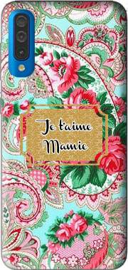 Floral Old Tissue - Je t'aime Mamie Case for Samsung Galaxy A50