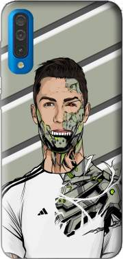 Football Legends: Cristiano Ronaldo - Real Madrid Robot Case for Samsung Galaxy A50