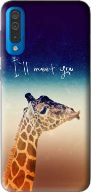 Giraffe Love - Left Samsung Galaxy A50 Case