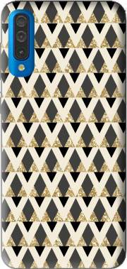 Glitter Triangles in Gold Black And Nude Case for Samsung Galaxy A50