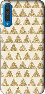 Glitter Triangles in Gold Case for Samsung Galaxy A50