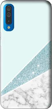 Initiale Marble and Glitter Blue Case for Samsung Galaxy A50