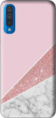 Initiale Marble and Glitter Pink Samsung Galaxy A50 Case
