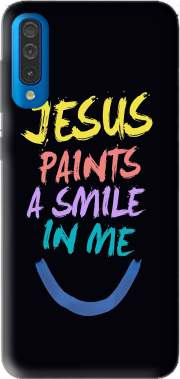 Jesus paints a smile in me Bible Case for Samsung Galaxy A50