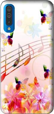 Musical Notes Butterflies for Samsung Galaxy A50