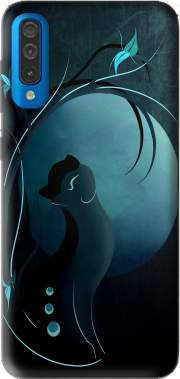 Sensual Cat in the Moonlight  Case for Samsung Galaxy A50