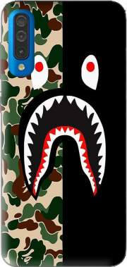 Shark Bape Camo Military Bicolor Case for Samsung Galaxy A50