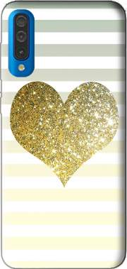 Sunny Gold Glitter Heart Case for Samsung Galaxy A50