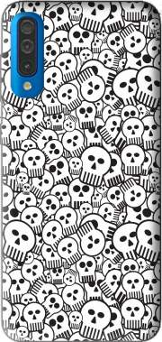 toon skulls, black and white for Samsung Galaxy A50