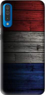 Wooden French Flag Case for Samsung Galaxy A50