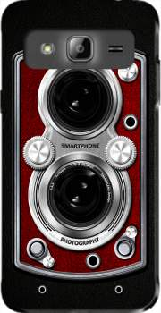 Vintage Camera Red Case for Samsung Galaxy J3