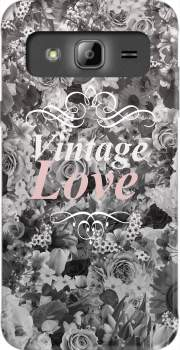 Vintage love in black and white Case for Samsung Galaxy J3