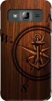 Wooden Anchor Case for Samsung Galaxy J3