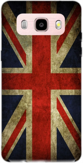 Case Old-looking British flag for Samsung Galaxy J5 (2016)
