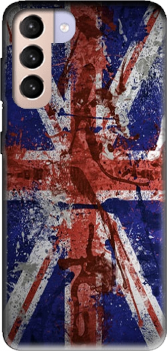 Silicone Samsung Galaxy S21+ with pictures flag