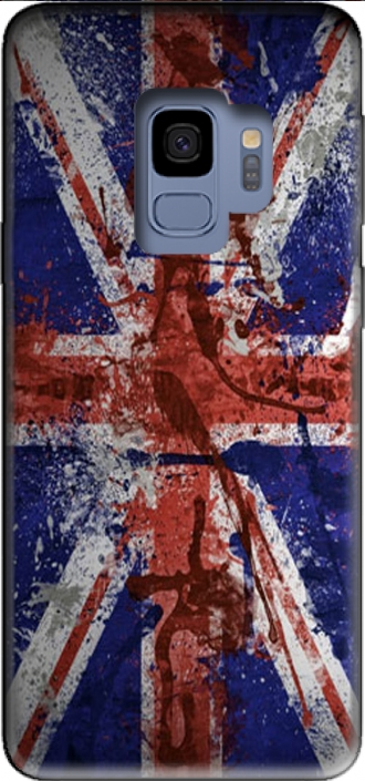 Silicone Samsung Galaxy S9 with pictures flag