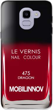 Nail Polish 475 DRAGON Case for Samsung Galaxy J6 2018