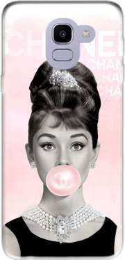 Audrey Hepburn bubblegum Case for Samsung Galaxy J6 2018