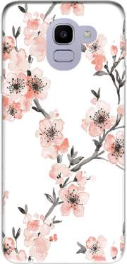Cherry Blossom Aquarel Flower Samsung Galaxy J6 2018 Case