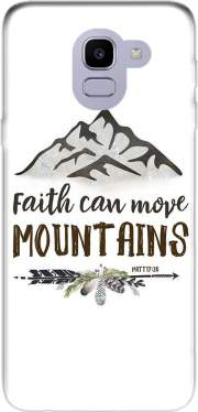 Faith can move montains Matt 17v20 Bible Blessed Art Samsung Galaxy J6 2018 Case