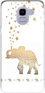 Gatsby Gold Glitter Elephant Case for Samsung Galaxy J6 2018