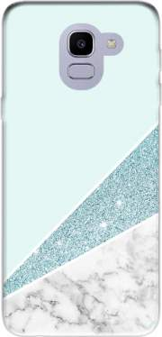 Initiale Marble and Glitter Blue Case for Samsung Galaxy J6 2018