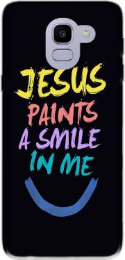 Jesus paints a smile in me Bible Samsung Galaxy J6 2018 Case